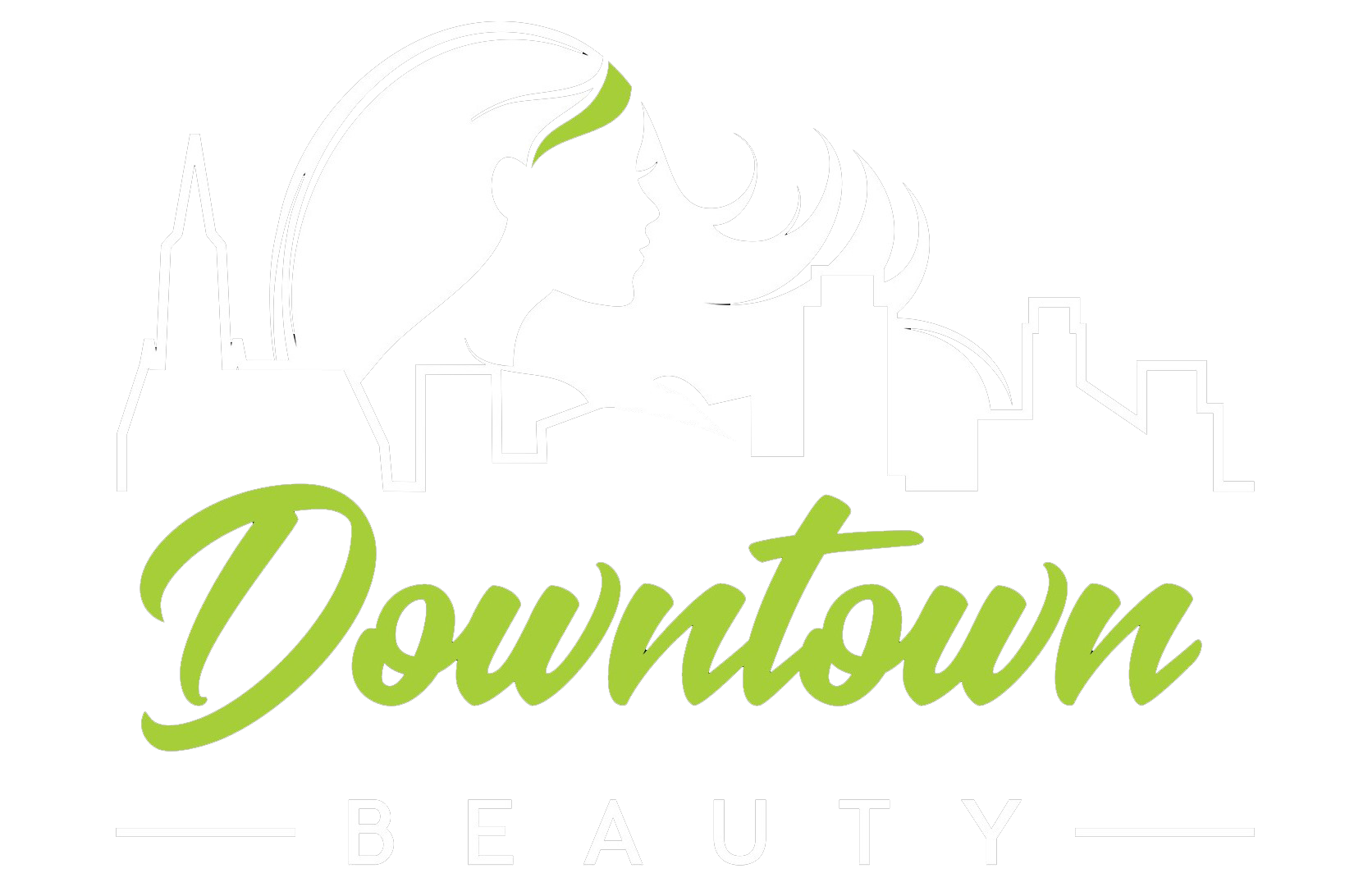 downtown beauty salon platinia logo